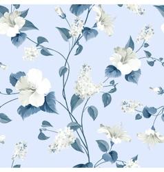 Seamless pattern flowers vector