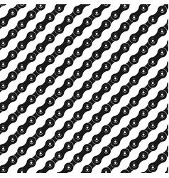 Seamless pattern with bicycle chain in diagonal vector