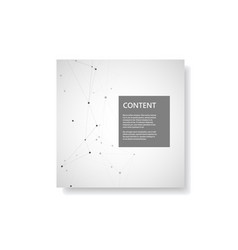 set brochures template with connect design vector image