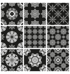 Set geometric abstract Seamless pattern vector