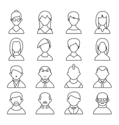 Set of people outline icons vector image