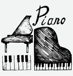 Set piano vector image