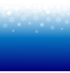 Snowflakes border vector image