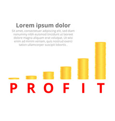 stacks of gold coins income and profits isolated vector image