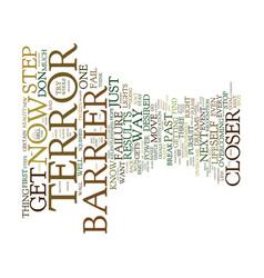 Terror barrier mhm mental health matters text vector