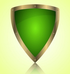 Triumph green shield symbol icon vector image
