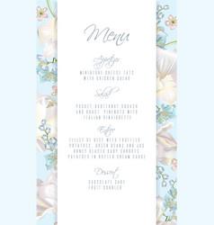 Tulip blue menu vector