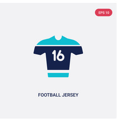 Two color football jersey icon from brazilia vector