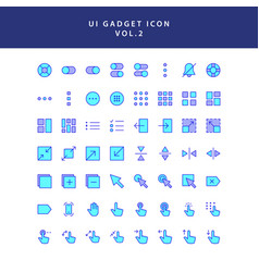 ui gadget icon set vol 2 vector image