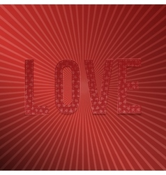 Valentines Day red paper Word Love for Your Design vector