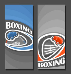 Vertical banners for boxing vector