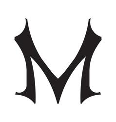 Vintage style letter m vector