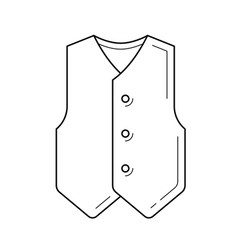 Waistcoat line icon vector