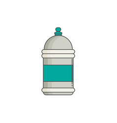 water bottle flat design vector image