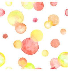 watercolor circles pattern vector image