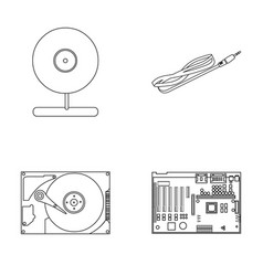 Webcam motherboard and other equipment personal vector