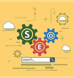 website of the seo optimization vector image