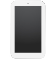 White smart-phone design isolated on white vector