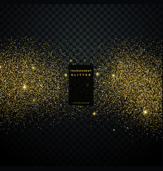 black background with golden glitter particle vector image