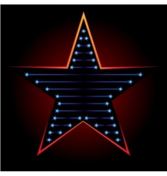 blue star vector image vector image