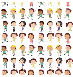 Different emotion of kids vector image vector image