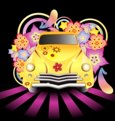 hippy car vector image vector image