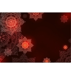 mandala background pattern vector image