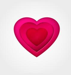 pink paper heart vector image vector image