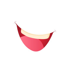 Smiling mouth icon in cartoon style vector image