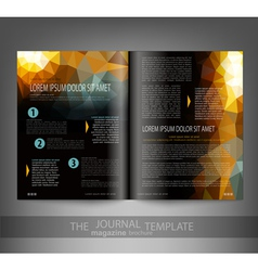 template print edition of the journal vector image vector image