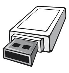 Usb flash memory vector image vector image
