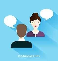 Businessmen and Businesswoman Having Informal vector image