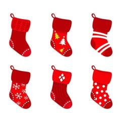 retro christmas socks vector image vector image