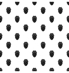 Strawberry pattern simple style vector image