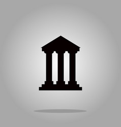 bank building sign icons vector image