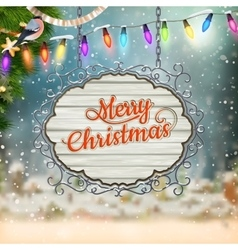 Christmas vintage Signboard EPS 10 vector image