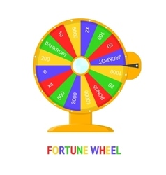 Color Wheel Of Fortune vector image