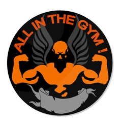 Everyone in the gym vector image vector image