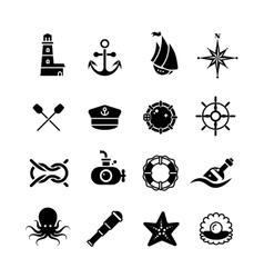 Marine sea nautical pirate maritime vector image