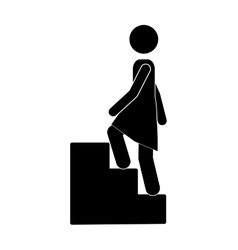 person up the stairs vector image