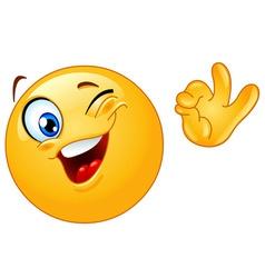 winking emoticon vector image vector image
