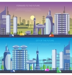 city of the future vector image vector image