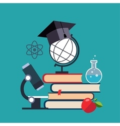 E-learning and online education vector