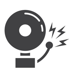 fire alarm solid icon intruder alarm and security vector image