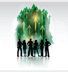 group of people 2802 vector image