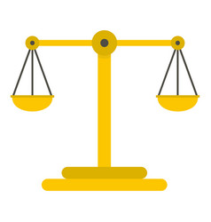 scales of justice icon isolated vector image vector image