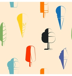 Seamless background with ice cream vector image
