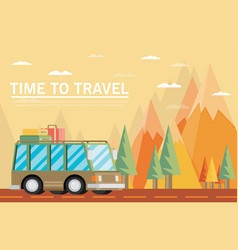 Travel lifestyle concept of planning summer vector