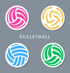 Volleyball ball labels vector image vector image