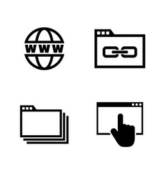 Web browsing simple related icons vector